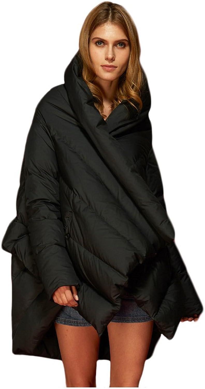 goldlay Women's Puffer Down Coat Cloak-Type Jacket