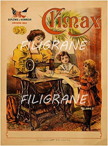 PostersAndCo TM Climax Nähmaschine Rpsr-Poster/Nachbildung 40 x 60 cm * d1 Poster Vintage/Retro