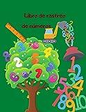 Libro de rastreo de números: 8.5 'X11 51 Página de plantilla 1-50 Libro de rastreo de números para preescolares y niños (Libros de rastreo de números)
