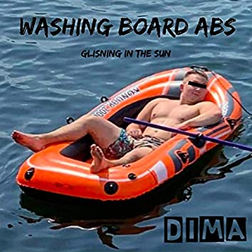 Washing Board Abs Glisning In The Sun