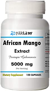 5000mg High Potency 120 Capsules Big Bottle African Mango Extract