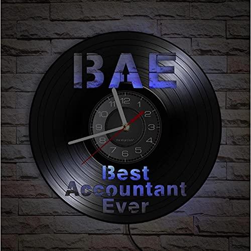 JKLMZYT Tax Season Best Accounter Ever CPA exklusiv väggklocka ekonomiavdelningen kontor dekor vinyl klocka entreprenör verkställande gåva
