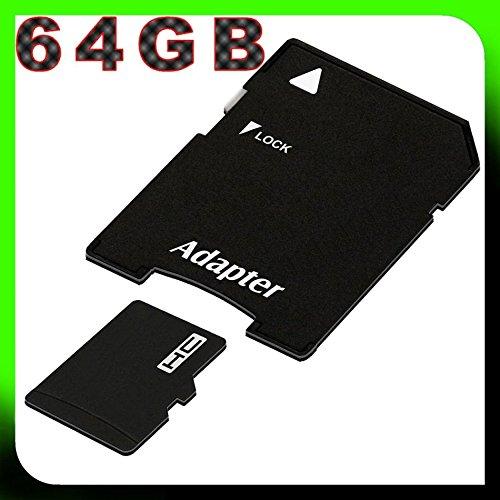 Doogee S60 / Doogee S30 / Doogee Y6 4G / Doogee X5 / Doogee MIX Lite 4G micro SDHC Speicherkarte - 64GB UHS-1 Class 10 inkl. SD-Adapter