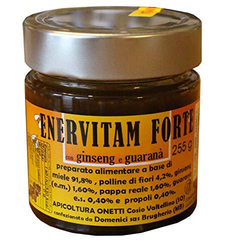 ENERVITAM forte - energetico con polline pappa reale miele propoli GINSENG e GUARANà, 255 g