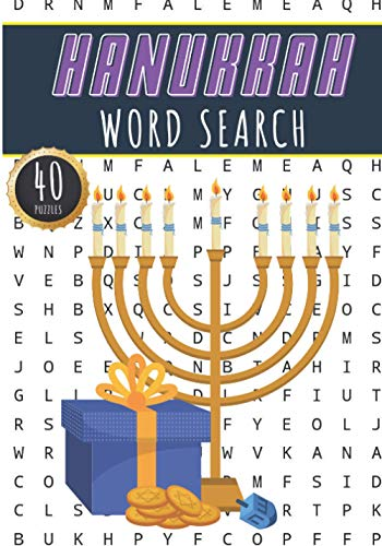 Hanukkah Word Search: Chanukah Word Search Book | 40 Fun Puzzles With Words Scramble for Adults, Kids and Seniors | More than 300 Chanukkah Words On ... Hanukkah Vocabulary | Family Activity At Home