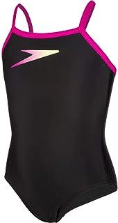 Speedo Girl's Plmt Tsrp Msbk Jf Black/Pink Swimsuit
