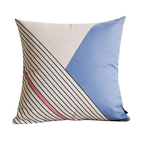 Taille confortable oreiller Coussin minimaliste Dossier en coton et lin Bureau chaise Dossier