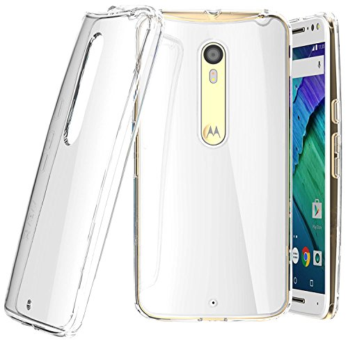 Tektide Case Compatible for Moto X Pure Edition, [Invisible Armor] Xtreme Slim, Clear, Soft, Lightweight, Shock Absorbing TPU Bumper/Back Cover