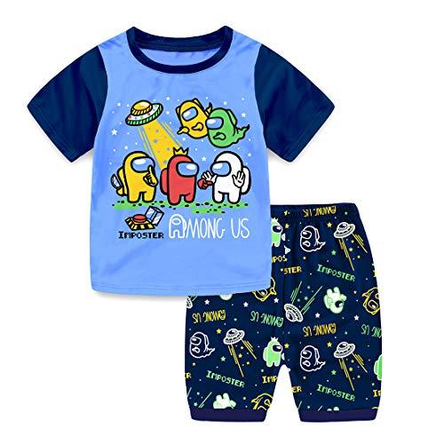 Edu Niños You Looking Sus Bro Among Us Impostor Pijamas de Gamer (Corto, 12_Years)
