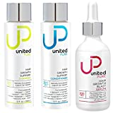 United Pure Hair Growth Support Shampoo, Conditioner, and Serum, 2x 12oz + 1x 2oz | DHT Blocking Anti Hair Loss Set | w/Redensyl, Baicapil, Capixyl, HairSpa, Biotin | Hyaluronic Acid, Keratin & More