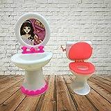 Uteruik Closestool Waschbecken WC Waschgeräte für Puppenhaus Badezimmer Möbel Zubehör