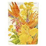 Caroline's Treasures 6015CHF Flower - Bird of Paradise and Hibiscus Flag Canvas House Size, Large, Multicolor