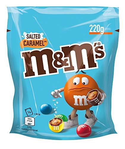 M&Ms Salted Caramel | Schokoladeneier mit salzigem Karamellkern | Eine Packung, 220g