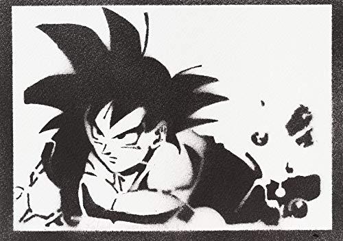 Son Goku Poster Dragonball Plakat Handmade Graffiti Street Art - Artwork