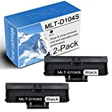2-Pack Compatible Black MLT-D104S Toner Cartridge Replacement for Samsung ML-1864 1865W 1670 1675 1860 1861 1660/N 1665 1655 1661 SCX-3200 3205/W 3206 3210 3217 Printers