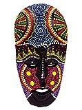 Máscara madera étnica Decoración Estatua africano tribal Totem aborigen África 20cm pintado