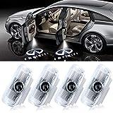 Car Door Light Logo Projector Courtesy Led Welcome Lights Compatible with Accessories Q50 Q70 Q60 QX50 QX70 QX80 FX G M EX Series (4PACK)