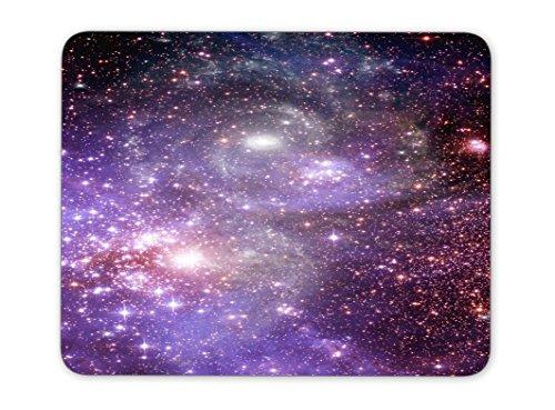 自由空間での惑星と銀河の星のマウスパッドー滑り止め加工処理 防水材質 疲労軽減 マウスパット