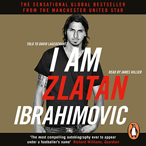 I Am Zlatan Ibrahimovic audiobook cover art