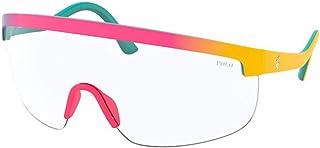 نظارة شمسية بولو PH 4156 58191W مات متدرجة بنفسجي/أصفر
