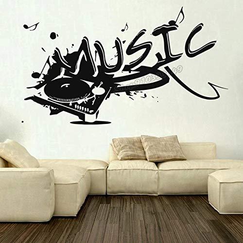 Vinilo Música Gramófono Disco Jazz Música Etiqueta de la pared