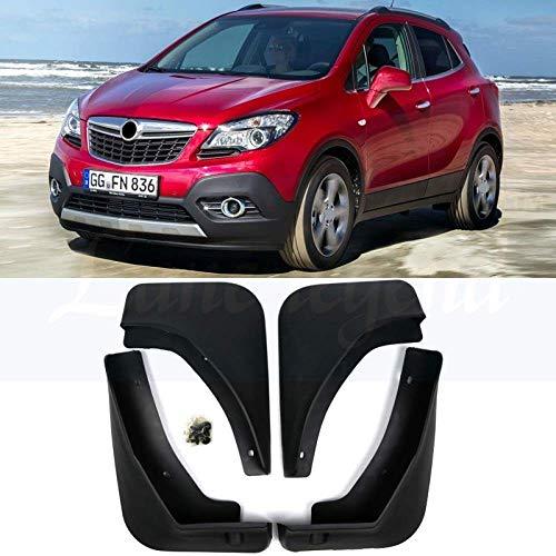 BTSDLXX 4 Pcs Set Auto Kotflügel für Opel Mokka X Vauxhall 2013-2019, Vorne Hinten Kotflügelverbreiterungen Spritzschutz Gummi Schmutzfänger Autozubehör