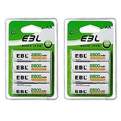 EBL 2800mAh, wiederaufladbar Batterien mit