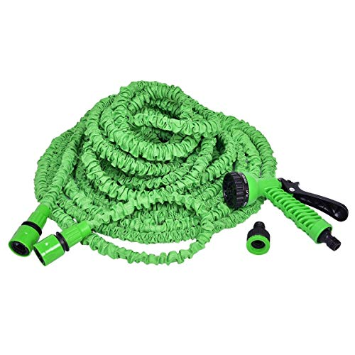 8 functies waterpistool tuinslang, flexibele verlengde magische slang, telescopische vouwen tuinslang, gemakkelijk op te slaan, groene huishoudelijke auto wasslang