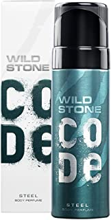 Wild Stone Code Steel No Gas Body Perfume for Men, Long Lasting Refreshing Fragrance for Office Wear -120 ml