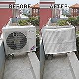 EisEyen Exterior Aire Acondicionado Aire Acondicionado Aire Acondicionado Resistente al Agua Cubierta Antipolvo para Hogar Aluminio Pantalla , Anti-Edad , Ahorro de energía, 90 * 62 * 38CM
