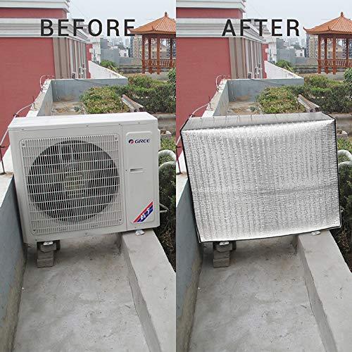 eiseyen exterior aire acondicionado Aire acondicionado Aire acondicionado resistente al agua cubierta antipolvo para Hogar aluminio pantalla , anti-edad , ahorro de energía, 90*62*38CM