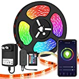 LED Strip Lights,Speclux 32.8ft/10M Color Changing Rope Lights SMD 5050 Flexible RGB Light Strips Sync to Music Apply for TV Bar Counter Cabinet Party Christmas Decoration