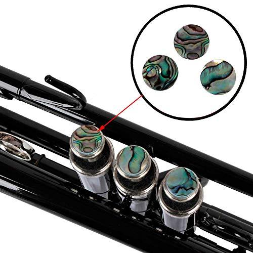 Trompeten Finger Knöpfe, 3 Stücke Trompetenknöpfe Fingerschlüssel Ventilschraube Reparatur Teile für Trompetenliebhaber mit Abalone Shell
