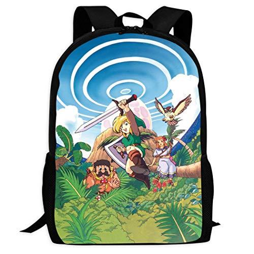 Therwd Childrens Adult Outdoor Sports School Backpack,Cool 3D Print ZE-ldA LE/gEn-D,Book Bags Shoulder Bag