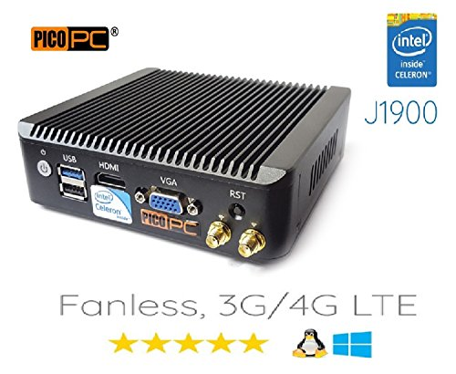 Perfect pfSense, Sophos, Untangle, Ubuntu, ClearOS, Freebsd, MonowaIl, Debian Intel Celeron Quad Core J1900 4 LAN PICO PC with WiFi, Firewall Router Fanless 8GB RAM, 60GB SSD Mini PC