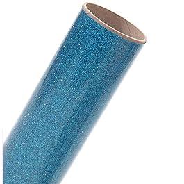 Siser Glitter HTV 12″x3ft Roll (Aqua) Iron on Heat Transfer Vinyl