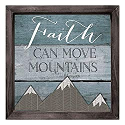 faith can move mountains wood plaque