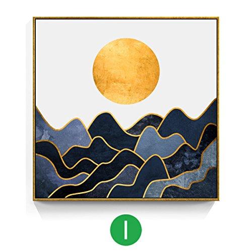 Nwn muurschilderijlijst, decoratief, schilderen, wandschilderij, abstract, geometrisch, modern, eenvoudig, model voor kamer, Noors, hotel, slaapkamer, woonkamer, schilderij
