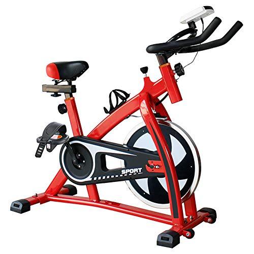 KuaiKeSport Bicicleta Spinning Profesional,Indoor Cycling Electromagnético Aplicación Inteligente,Resistencia Variable Asiento y Manillar Ajustables Bicicleta Estatica con Hervidor