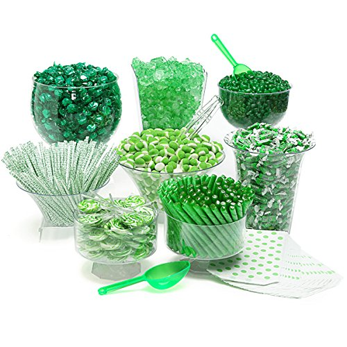 Green Candy Kit - Party Candy Buffet Table: 25 to 50 Guests