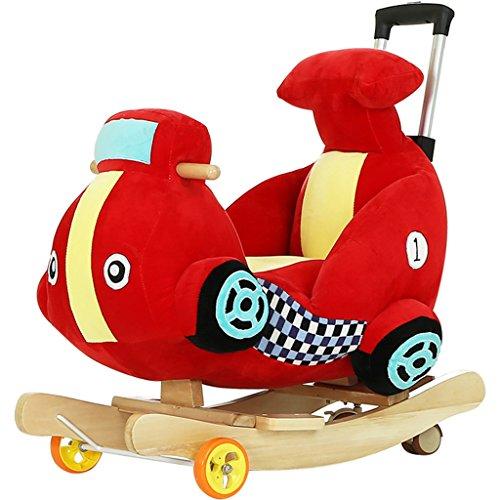 Enfant Rocker Toddler Rocker Infant Rocker Cheval à bascule en bois massif fauteuil à bascule de 1-4 ans bébé jouet double usage bébé voiture -LI JING SHOP