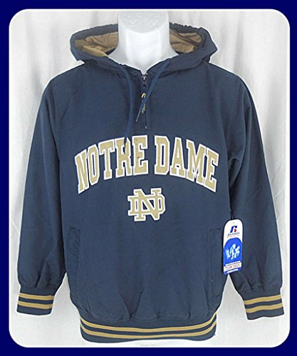 Russell Athletic Notre Dame NCAA 1/4 Zip Windbreaker Jacket Youth Sizes (M)