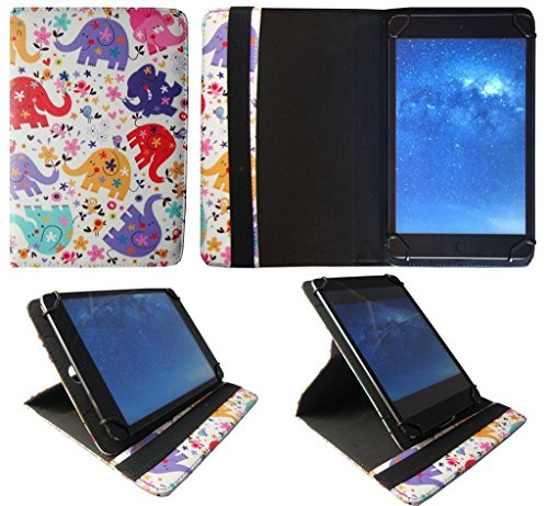 Archos 101b Copper 10.1 Inch Tablet Multi Elefante Universale 360 Gradi di Rotazione PU Pelle Custodia Case Cover ( 9 - 10 Pollici ) di Sweet Tech