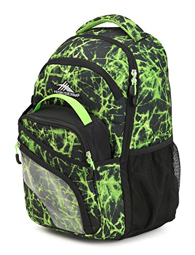 High Sierra Wiggie Lunch Kit Sac à Dos, Lime Fire/Noir/Vert Citron
