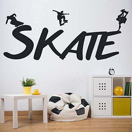 Tianpengyuanshuai Tablero de Skate Vinilo Adhesivo de Pared decoración Gimnasio hogar diseño de Interiores Arte 27X68cm
