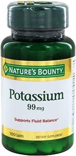 Nature's Bounty Potassium Gluconate 99mg, 100 Caplets (Pack of 2)