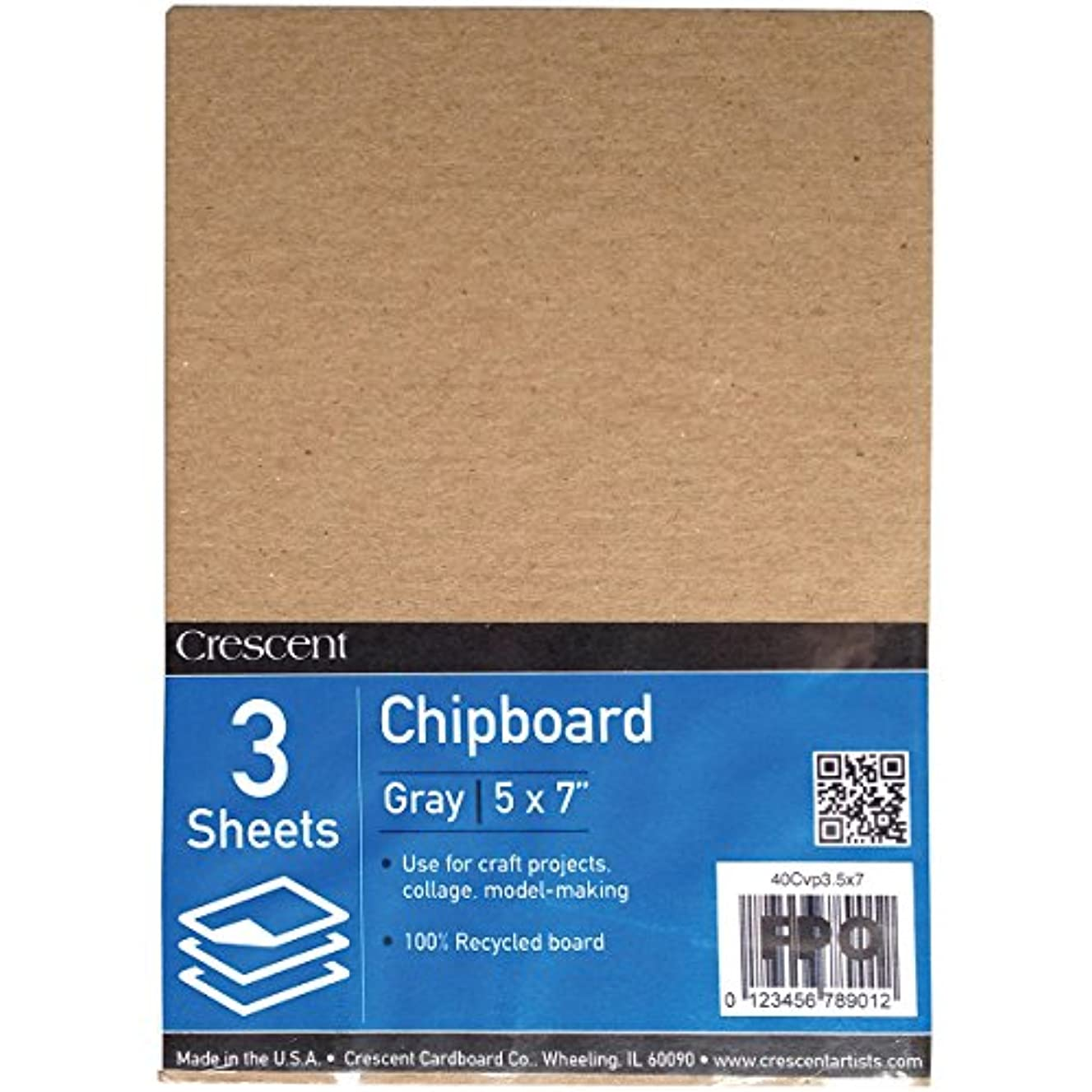Crescent Creative Products VP40C-0507 (3 Count) #40C Value Pack Recycled Chipboard, 5