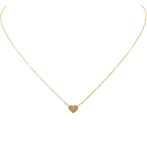 5834c84e18c2 Humble Chic Tiny Heart Necklace - Delicate Dainty Pendant Chain Link Mini  Charm