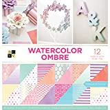 DCWV Card Stock 12'X12' Watercolor Ombre Premium Printed Cardstock Stack
