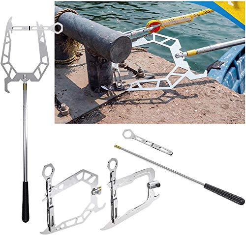 Gancho y Cuerda telescópicos para Barco, enhebrador de Larga Distancia fácil Herramienta de Gancho de Cuerda de Amarre para Tirador de Barco, enhebrador de Larga Distancia fácil (B)
